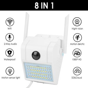 1080P HD CCTV WiFi Camera Light IP66 Waterproof 32LEDs Outdoor IP Security Camera Wall Lamp Night Vision Two Way Audio