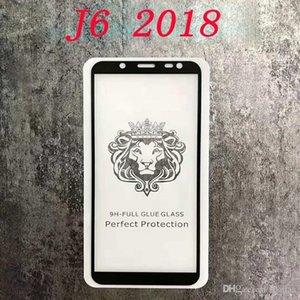 J8 Glue completa 2018 Vidro Prime Protector temperado completa Glue borda curvada Package 250 Retail Com 2018 J7 J3 para a tela bbyez casecustom