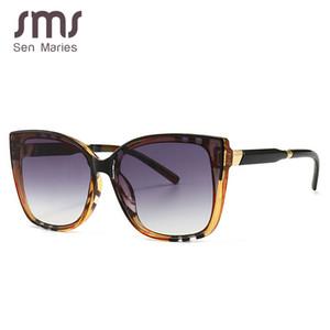 Sen Maries Platz Sonnenbrille Frauen Katzenauge-Streifen Ultralight Vintage-Brillen Frames Männer Frauen optische Art und Weise Computer-Brille