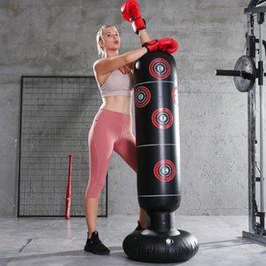 Estresse 1.6M inflável Pressão de perfuração Torre saco de boxe Standing Tumbler Muay Formação Relief Bounce Back Sandbag com bomba