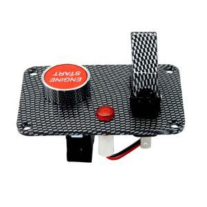 Car Racing Ignition Switch Panel Engine Start-Druckknopf LED mit Abdeckung