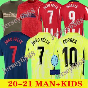 2020 2021 JOAO FELIX أتلتيكو مدريد لكرة القدم جيرسي 20 21 الاطفال camiseta دي فوتبول M.LLORENTE موراتا SAUL KOKE DIEGO COSTA كرة القدم قمصان