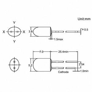Wholesale-100pcs 5mm luce ovale LED 546 diffuso bianco LED Emitting Diode lampada Passanti lampadina 3V DIP jN4X #