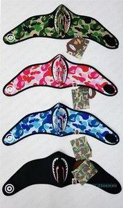 Visage Ape Shark Half Marque Nuit Luminous Vélo Moto Foulard Designer Sports de plein air Ski Facemask Gardez Masques chauds Couverture D42801
