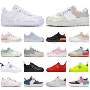 2020 air force 1 shadow af1 shoes uomini donne platform sneakers scarpe da skateboard low top sup nero bianco utility rosso oliva mens trainer scarpe sportive casual