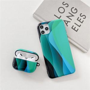 airpods durumda yumuşak TPU durumda iPhone 12/11 / se 2 / X DHL için İMD renk kulaklık durumda