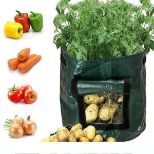 Plant Grow Bag DIY Potato Grow Planter PE Cloth Tomato Planting Container Bag Thicken Garden Pot Garden Supplies For Growing