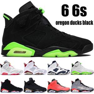 New Oregon patos pretos 6 6s jumpman tênis de basquete DMP Hare Olímpico de Londres Tinker Flint refletir homens de prata das sapatilhas US 7-13