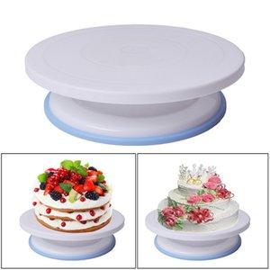Plastic Cake Stand Turntable Rotating Rack Dough Cake Stand Plastic Rotary Table DIY Baking Tool