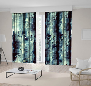 Curtain Expressive Splashes of Paint Abstract Modern Grunge Style Artwork Printed Gray Black Beige