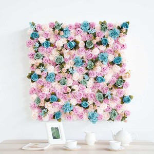 Custom wedding indoor home party backdrop flowers wall decoration artificial fake flowers photography background floral decor