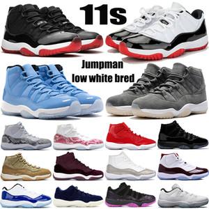 С брелок 11 11s Jumpman баскетбольной обувью низкой белым разводили Pantone SE металлического золота овы серой змеиной кожи мужских кроссовок женщин тренеров