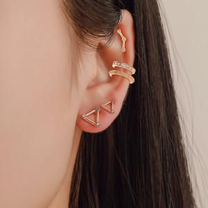 New five-piece earrings European and American retro geometric set earrings street punk style earrings wholesale