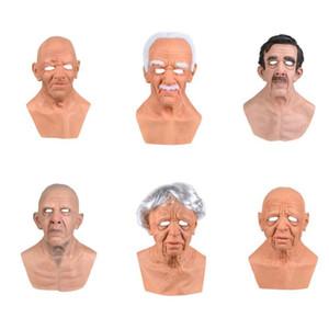 Halloween Copricapo Divertente traspirante Prestazioni Anziani Mask Prop Mascara Halloween Bdsm Bondage Purge