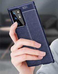 Stoßfest Telefon-Kasten für Samsung Galaxy Note 20 Ultra-Kasten-Silikon-TPU Leder Schutzabdeckung für Samsung-Anmerkung 20 Abdeckung
