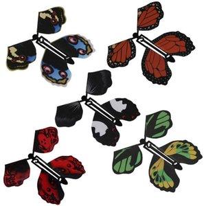 Brinquedo mágico da borboleta voando mudar com truques mãos vazias da liberdade da borboleta Magia Prop engraçado Prank Joke Místico truque Brinquedos Atacado DHF98