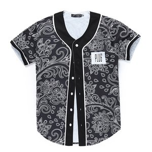 Mens Summer Buttons T-Shirt 3D Shirt Streetwear Printed Top Tees Hip Hop Custom Made Baseball Jersey T Shirt Fashion Brand X0923