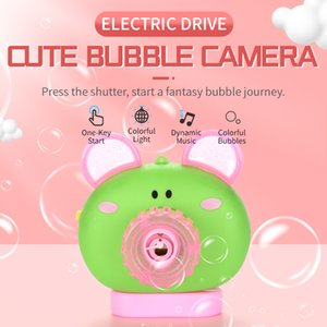 Bubble Blowing Toy Automatic bubble machine cartoon pig small animal music light bubble machine children's toy