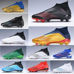 Free Shipping Predator 19 Archetic Mens soccer shoes FG High Top chuteiras de futebol football Children Youth Junior Boys Football cleats Bo