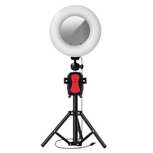 Makyaj video Canlı Akışı'na Yükseklik 105cm tripod ile 22cm Halka Işık Fotoğrafçılık LED Selfie'nin Aydınlatma Ayna