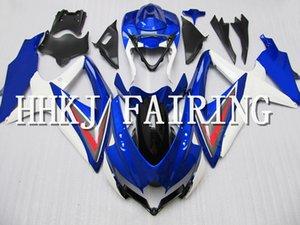 ABS Plastik Motosiklet Kaporta Fairing Kiti Fit For Suzuki GSXR 600 750 2008 2009 2010 K8 Enjeksiyon Moto Hull motorlu Fairing HHD285