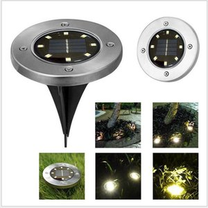 Solar Powered Ground Light 8 LED Landscape Lawn Light Waterproof Outdoor Lighting for Path Garden Lawn Landscape Decoration Lamp BWC2111