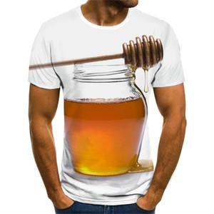 Summer New Men's T-shirt Ms. Bee 3D Sweatshirt 3D Print Personality Short Sleeve Hip Hop O-Neck Top XS-4XL 0924