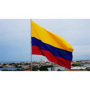 كولومبيا العلم جمهورية راية 3x5ft الكولومبية عدد المعجبين أمريكا الجنوبية البوليستر الهتاف أعلام 90x150cm حزب زينة