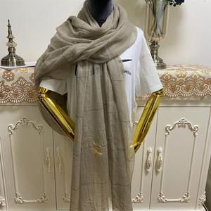 Yeni stil yüksek kaliteli% 100 kadın büyük beden 215cm için malzeme Nakış uzun eşarplar Kaşmir - 105cm