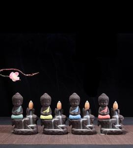 Quemador reflujo creativo púrpura arena Monk poco Gaoshanshui incienso quemador de incienso de cerámica Line Road Home Oficina de artículos de menaje