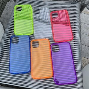 iphone 11 Pro Max X XR XS Max 7 8 6 6S Artı SE2 Tam Koruyucu Yumuşak TPU Kapak İçin Toptan Neon Floresan Şeffaf Şeker Renk Telefon Kılıfları