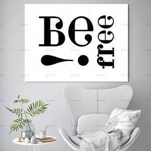 Nordic canvas painting wall art Words Picture cartoon art wall Canvas Painting home decor poster for living room prints