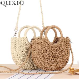 New Handmade Moon-shaped Shoulder Bags Women's Handbag Summer Woven Beach Bag Fashion Ladies Straw Bags Travel Shopping Tote