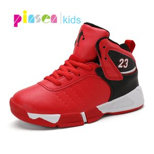 2020 Brand Boys Basketball Shoes Kids Sneakers Outdoor Big Children Non-slip running Shoes Footwear Shoes Basket Sport