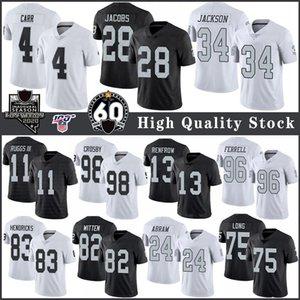 28 Josh Jacobs 4 Derek Carr OaklandAtacante Futebol Equipamentos 11 Henry Ruggs III 13 Hunter Renfrow 75 Howie longo 34 Bo Jackson 98 Crosby