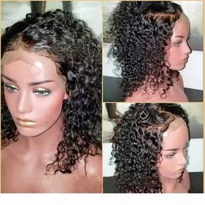 """8A Water Wave Lace Front Wigs Virgin Brazilian130% Density Remy Weave Human Hair 360 Lace Frontal Wigs With Pre-Plucked (16"""" Natural Bl"""