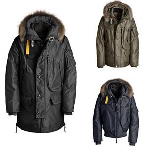 Meilleur manteau d'hiver pour hommes plus grand pelote Parka et capuche Manto garniture de fourrure de fourrure