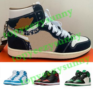 Nike Dior X air jordan 1 shoes Basketball Shoes AJ1 running shoes ayakkabıları 1s Racer Mavi Travis Scotts Korkusuz Obsidian UNC Erkek Kadın Chicago Yasaklı