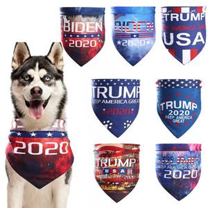 Cat Dog Trump animais Lenços EUA Presidente Eleição Biden Trump Biden cachecol triângulo Bandanas lavável Pet Turban HHA1584