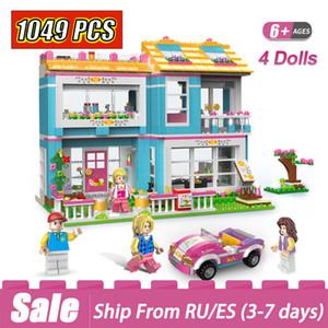 1049pcs Ev arkadaşı parti Duploed Aile Serisi İnşaat Yapı Taşları Oyuncak İçin Çocuk Montessori Eğitimi
