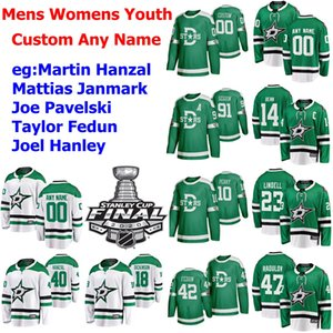 2020 Dallas Stars Stanley Cup Final Hockey Jerseys Esa Lindell Jersey Anton Khudobin Jamie Benn Tyler Seguin Ben Bishop Mens Custom Stitched