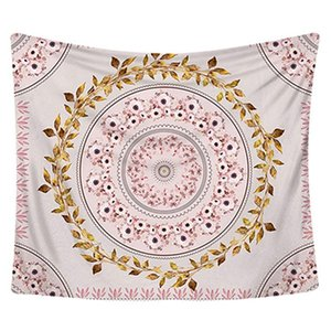 Pink Tapestry Wall Hanging Bohemian, Mandala Floral Tapestry Wall Decor Blanket for Bedroom Home Dorm