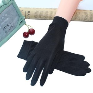2018 100% Real Silk Gloves for Women's Spring Summer Gloves Soft Silky Female Sunproof Ladies Mittens Anti-UV Solid Color