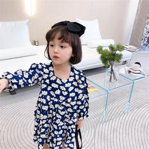 Facejoyous Little Daisy Mädchen Kleidung Kinder-Kleider für Mädchen-Blumen-Herbst-Kind-Kleidung-Kind-Kostüm Prinzessin Kleidung 0924