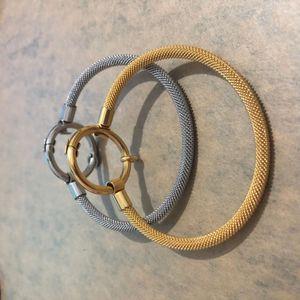 Nouveaux 18 carats Or et Silver Mode Femmes Ours en acier inoxydable Charms Open Cercle rond Bracelet Bracelet Spain Pulsera Oso