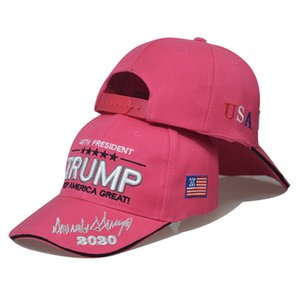 HWL Shipping Trump Baseball Cap 2020 Make America Great Again Hat Stripe USA Flag Caps 6 Colors 3D Embroidery Letter Adjustable Hats HWD1651