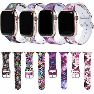 Sports Silicone Bracelet Wrist Band For Apple Watch Series 6 5 4 3 2 1-38mm 40mm 42mm 44mm