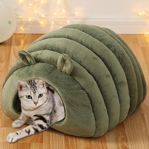 New Fashion Closed Kennel Dog Cat Pet Litter Deep Sleep Cat Litter Sleeping Bed Warm Fleece Dog Bed funny Pet Cushion For Dogs