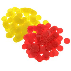 200PCS 18mm Plastic Counters Board Game Tiddly winks Teaching Aid Red Yellow