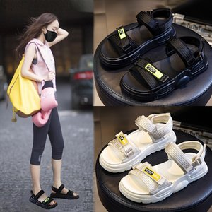's Sandals 2020 New Summer Fish Mouth Breathable Outer Wear Fashion All-match Women's Shoes Hook And Loop Casual Shoes Children's